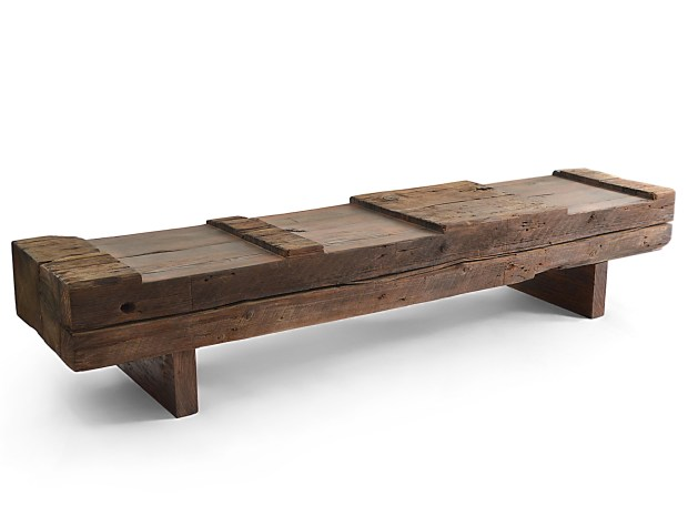 Bridge Bench Rotsen - Small Reclaimed Wood Bench 07