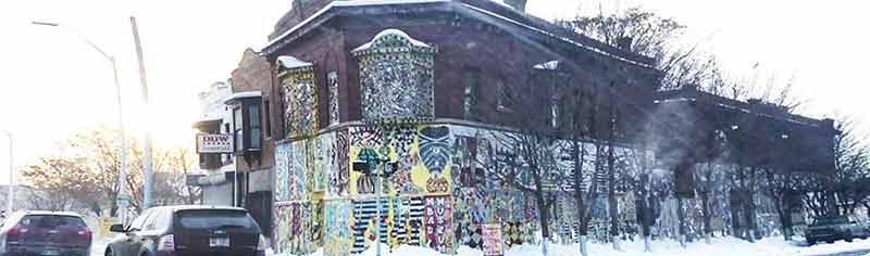 The Dabls Mbad African Bead Museum, stands proudly on Grand River in Detroit.