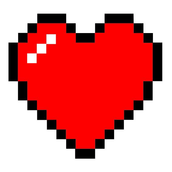 corazon pixelado