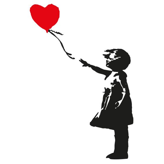 Niña con globo Banksy