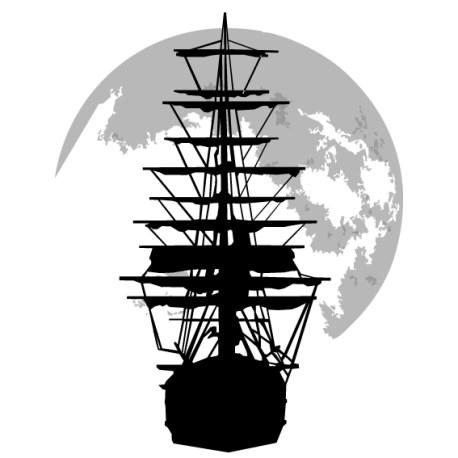barco velero luna