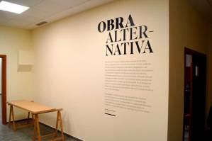 Vinilo introductorio a la exposición 'Obra Alternativa'