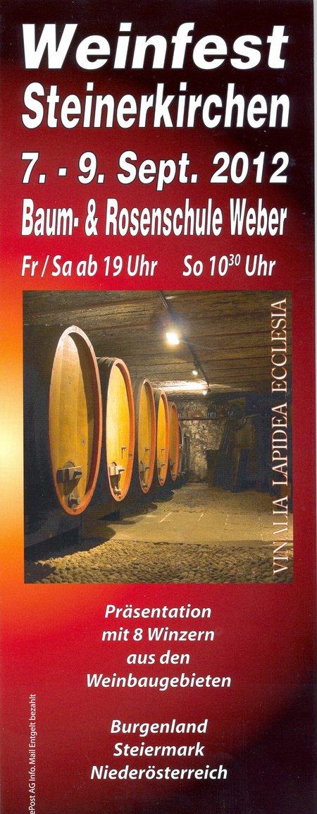 Weinfest Steinerkirchen 2012