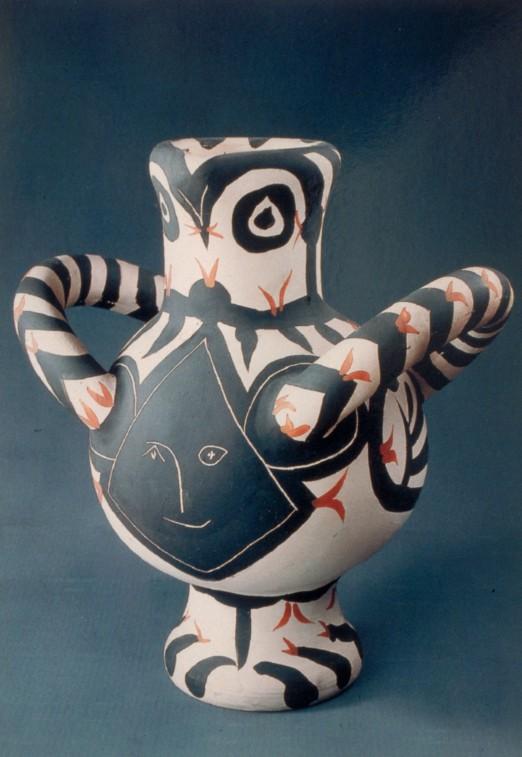 Vase gros oiseau visage noir  Pablo PICASSO Pablo RUIZ dit 1881  1973  1961