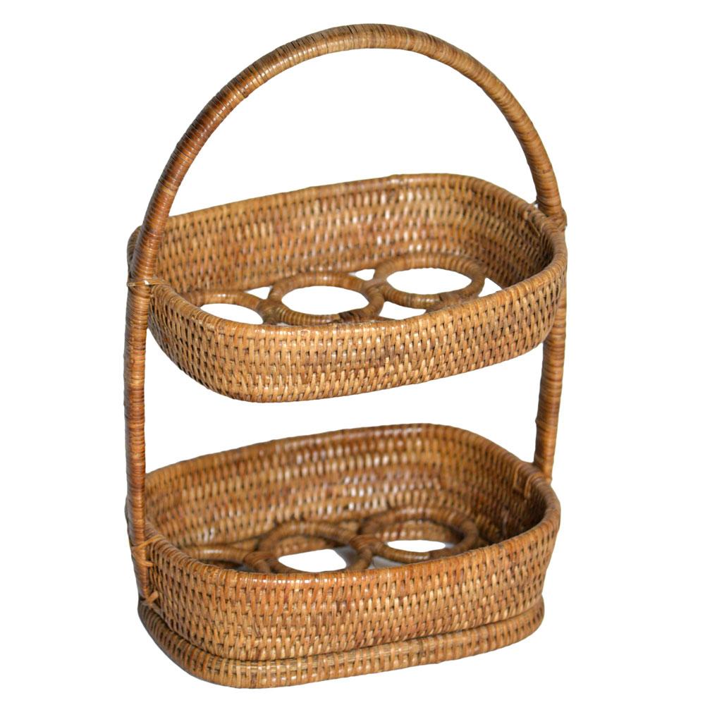 Two Tier Egg Basket  Roudham Trading