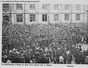 mobilisation à Rouen en août 1944