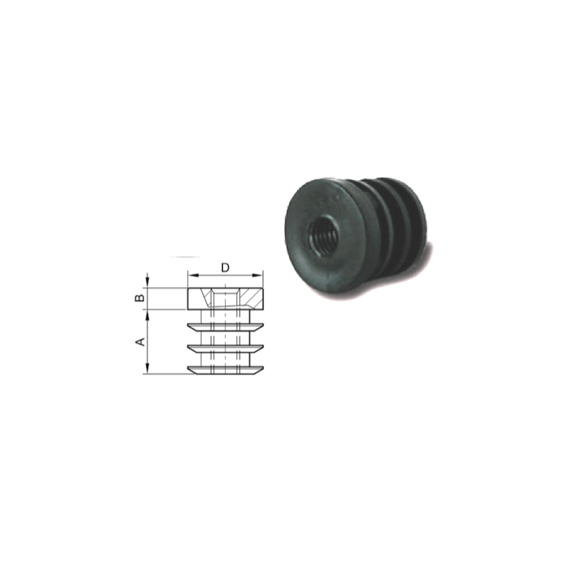 embout taraude pour tube rond 25 m10