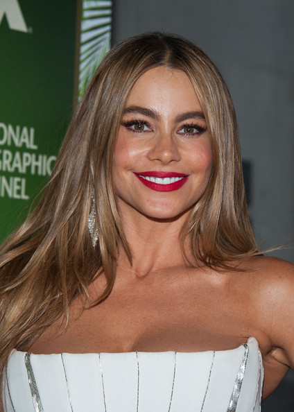 Emmys 2014 Hairstyle  Makeup Sofia Vergara  Rouge 18
