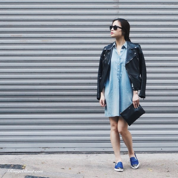 Stylebook: Leather and Denim, Alexander McQueen, Celine, CHANEL, Miu Miu, Saint Laurent, UNIQLO, Alexander McQueen Leather Biker Jacket, miu miu slip-on sneakers, Saint Laurent sunglasses