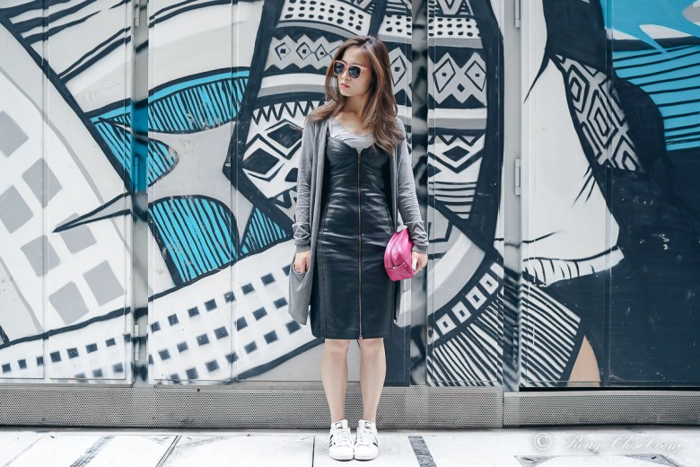 Dress down the Leather Dress by Rouge Closet