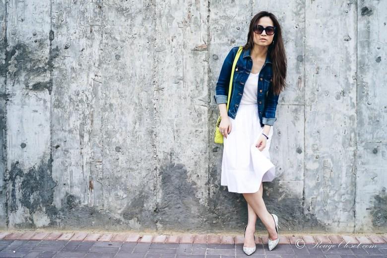 Rouge Closet Staples: White Cotton Skirt