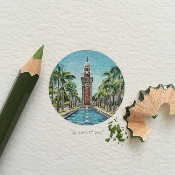 Clock Tower Painting From Lorraine Loots