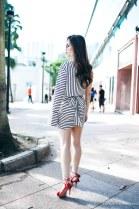 Back shot: PI'A The Quay Shirt and PI'A The Avoca Skirt