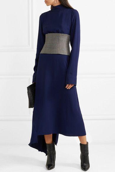 Tibi Chester checked wool corset