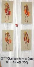 Exposition des tableaux des Bigatanes au Soler en 2009