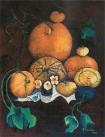 """""""Farandole de Courges"""" : Peinture à l'huile"""