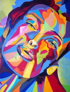 """""""Bienvenue"""" : Peinture à l'huile sur Toile 1mx1m"""
