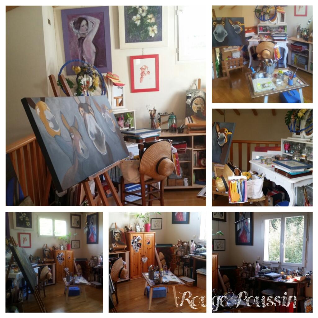 L'atelier de Rouge Poussin avant son réagencement.