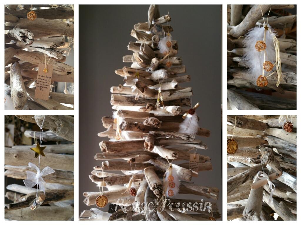 Les décorations du sapin de noël 2014 en bois flotté