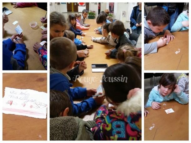 """Présentation des crayons """"aquarelle"""" avec les CP de l'école Arago de Bompas"""