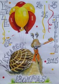 Affiche pour la fête de l'escargot Bompas 2015