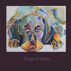 """""""Pitou"""" : Petit chien à l'aquarelle de Carole Alexandre"""