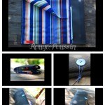 Trousse Artiste Noire et Bleue pour ranger les pinceaux