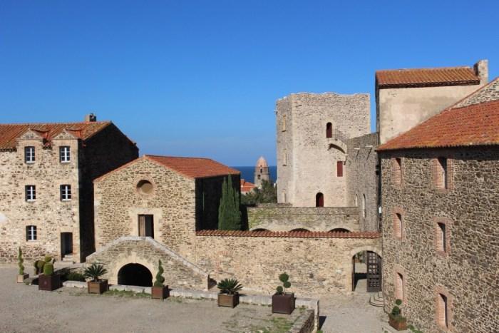 Cour du Château Royal de Collioure