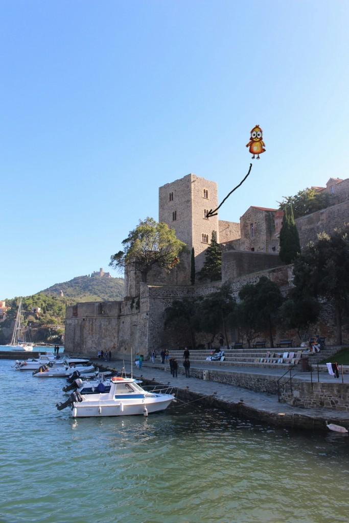 Donjon du Château Royal de Collioure où Rouge Poussin va participer au marché de noël 2015