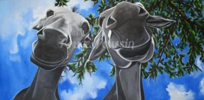 """Tableau de Carole Alexandre : """"La tête dans les nuages"""""""