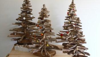 Sapin de noël en bois flotté encore cette année - Rouge Poussin
