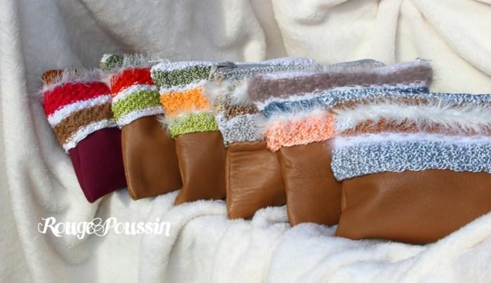 Des pochettes en cuir réalisées entièrement à la main