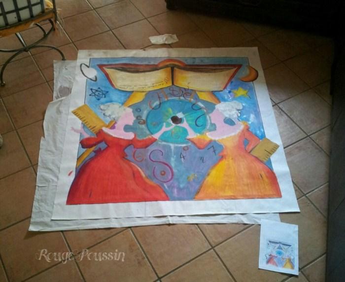 Préparation du concours de peinture Toulouges 2012