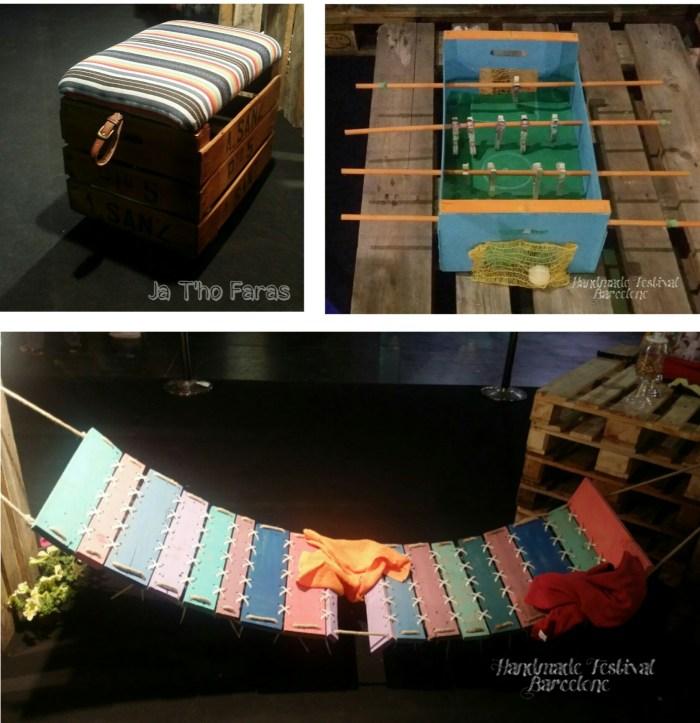 """Présentation d'objets fabriqués au """"handmade Festival"""" à Barcelone"""