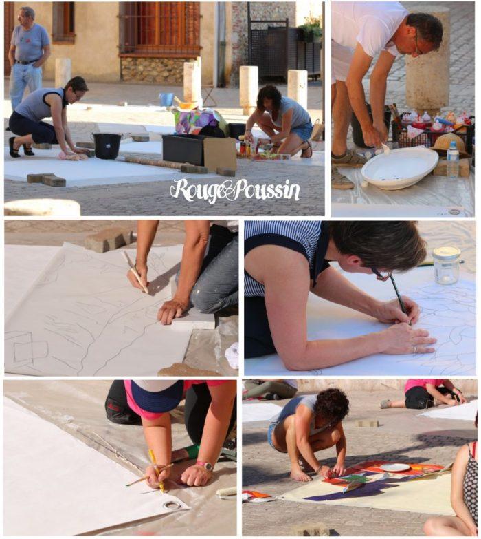 Début du concours de peinture à Toulouges