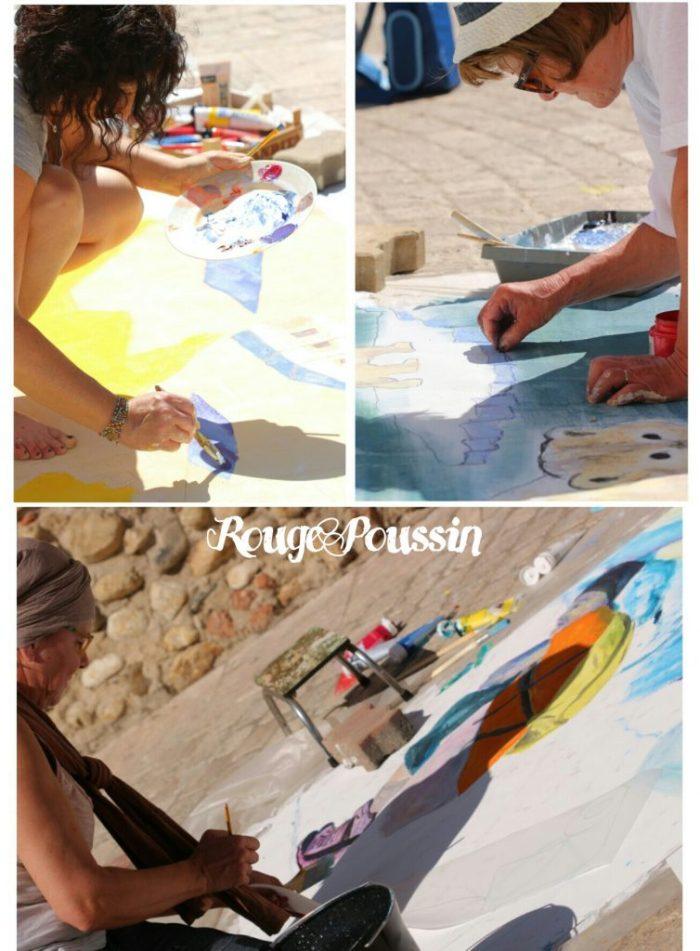Les différents peintres présents au concours de Toulouges