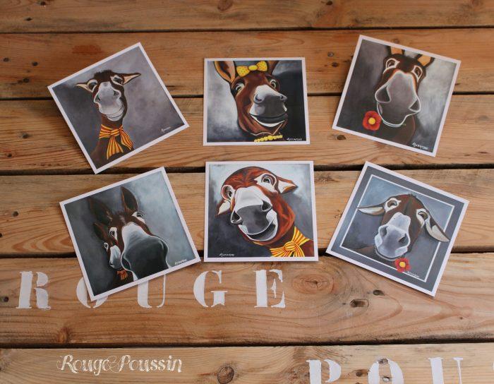 Photo de la série des 6 âneries en carte postale