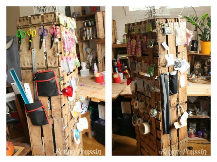 Créer une armoire de rangement avec des caisses en bois