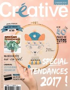 """Couverture du magazine """"Créative"""" n° 33"""