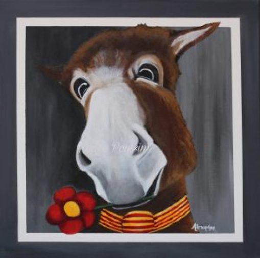 Joli coeur : ânerie n°12 - Peinture acrylique sur toile