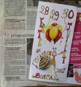 Affiche de la fête de l'escargot 2017