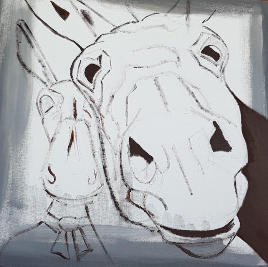 Les tous premiers traits de peinture du tableau intitulé : Octave