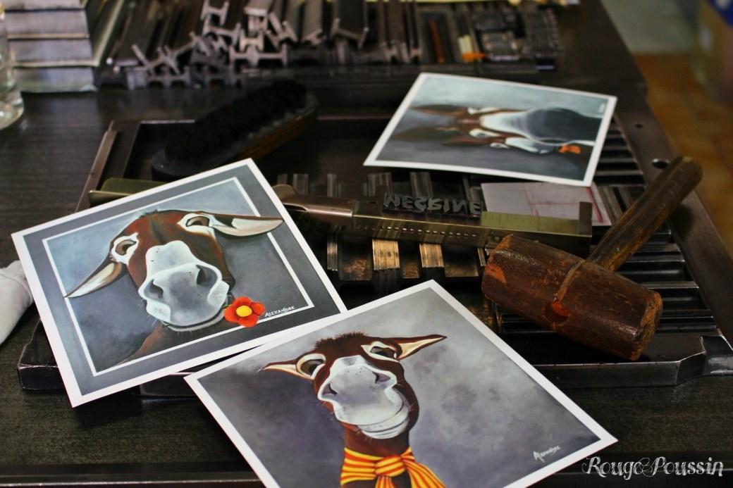 """Présentation de mes """"âneries"""" en cartes postales"""