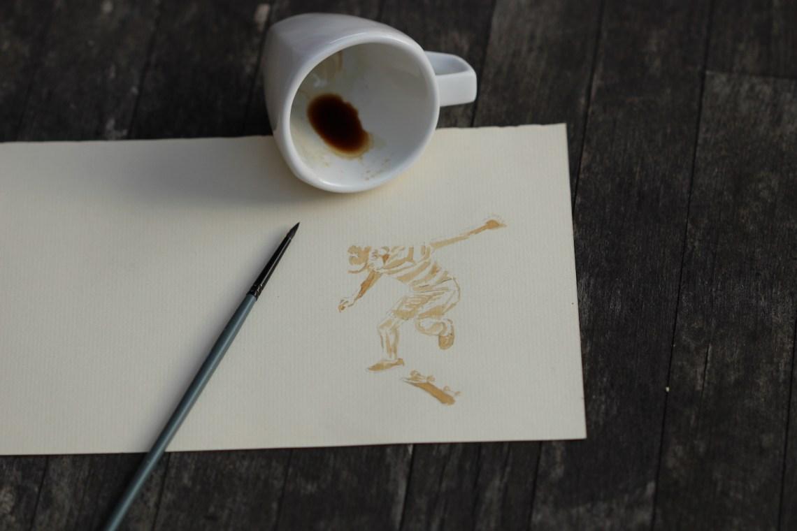 Peinture au moment de la pause café