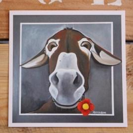 """Présentation de la Carte Postale """"Fleurâne"""", le portrait d'une ânesse"""