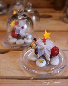 De jolies créations sous cloche pour décorer vos tables à Noël