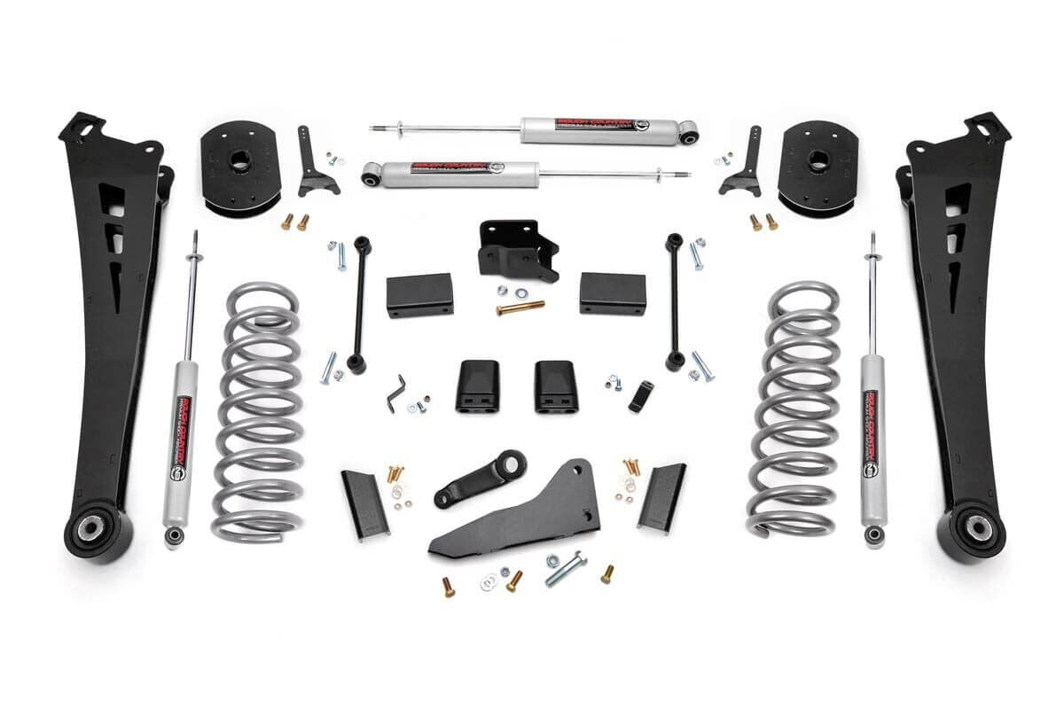 hight resolution of 5in dodge suspension lift kit coil springs radius arms 14 18 ram