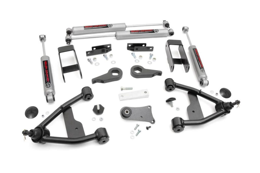 medium resolution of 2 5in suspension lift kit for 82 04 chevy 4wd s10 gmc s15 24230 2002 chevy blazer front suspension diagram 1998 chevy s10 blazer rear