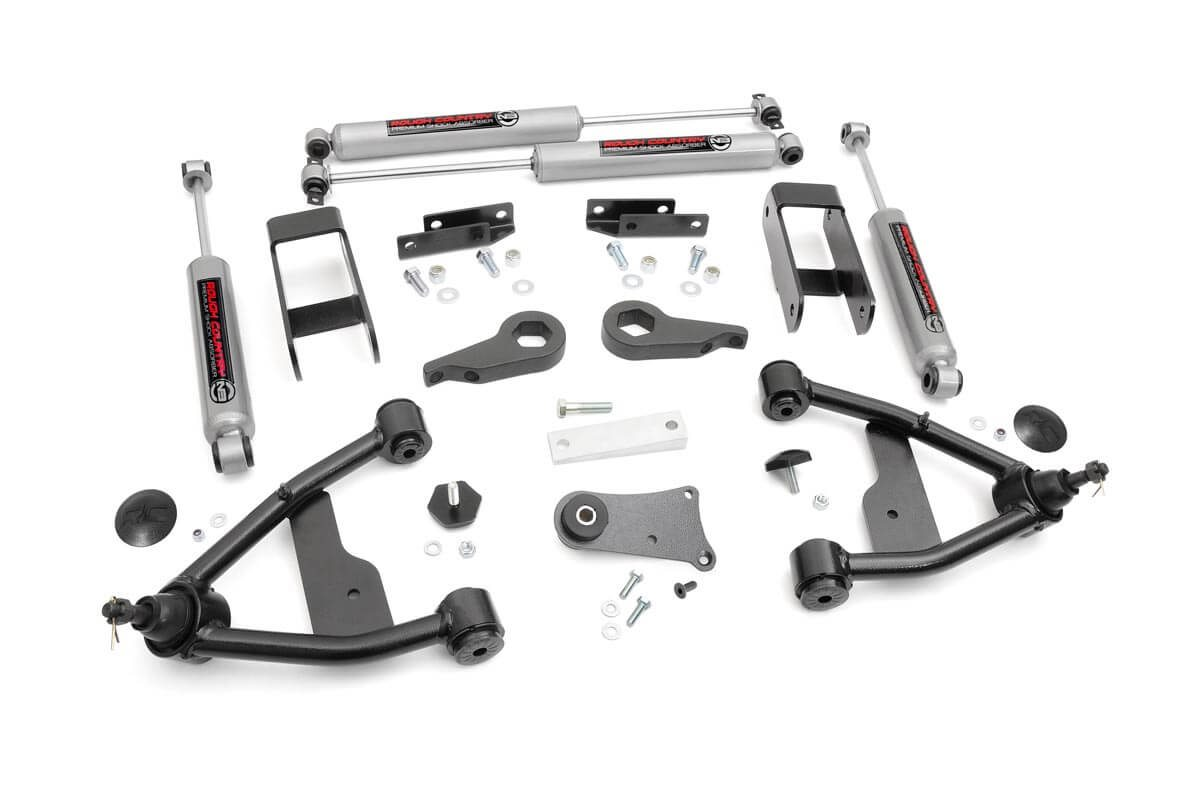 hight resolution of 2 5in suspension lift kit for 82 04 chevy 4wd s10 gmc s15 24230 2002 chevy blazer front suspension diagram 1998 chevy s10 blazer rear