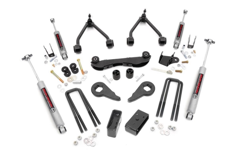 medium resolution of 2 3in suspension lift kit for 88 98 chevy gmc 4wd 1500 pickup suv rough country suspension systems